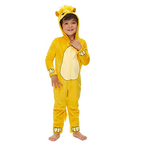 Disney Lion King Simba Toddler Boys Fleece Hooded Costume Zip-Up Coverall 3T