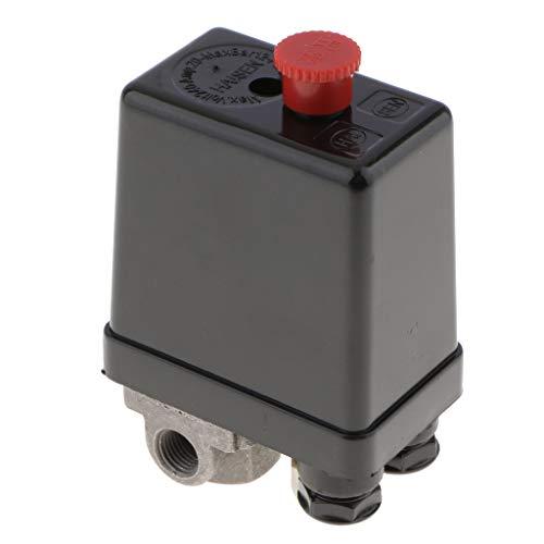 1 Port / 3 Port Luftkompressor Pumpe Druck Ein/Aus-Knopf-Schalter Steuerventil Vertikal Typ Ersatzteil Druckregler Druckschalter - 3 Anschluss