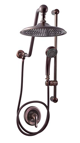Atlantis 9 Oil Rub Bronze Rain Shower System