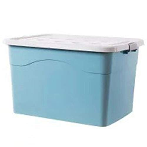 Thickened Plastic Storage Box, Large Portable Storage Box With Lid, Clothes Sorting Car Storage Box Nordic Blue 250#?79*56.5*44.5?