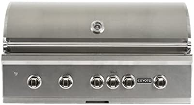 Coyote S-Series 42-Inch 5-Burner Built-In Natural Gas Grill With RapidSear Infrared Burner & Rotisserie - CSLX42NG