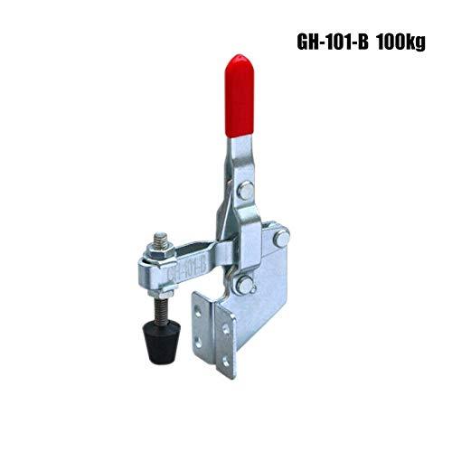 1 x GH-101-B abrazadera de rodillera, pinza mecedora de metal con mango rojo, herramienta manual con...