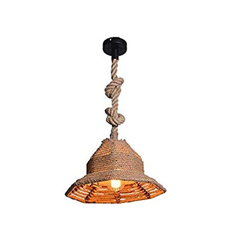 Plafondlamp E27 Lamp Houder Gevlochten Lampenkap Creatieve Hanglamp