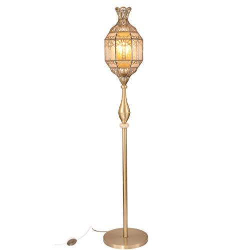 Lámpara de pie Lámpara De Pie Tallada Hueca Lámpara De Pie De Estilo Árabe Lámpara De Pie De Cobre Europea Decoración Del Hogar Lámparas De Pie Sala De Estar