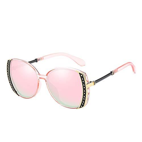 KuanDar clo Sonnenbrillen Für Frauen, uv Augenschutz, Metall Rand Rahmen, Stilvolle, Anti-Reflexion 100%, for Damen Uv400 Reflektierenden Spiegel, B