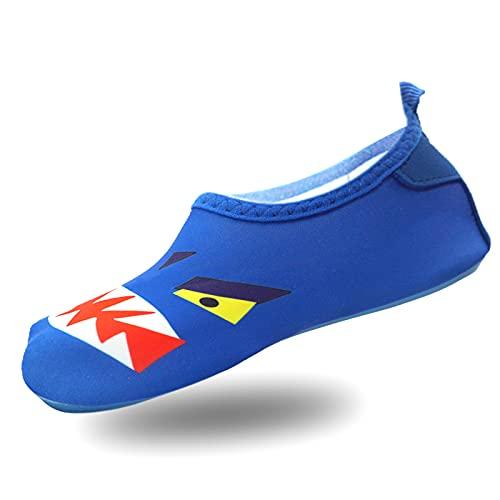 PTHTECHUS Scarpe da Immersione, Scarpe da Spiaggia Ragazzi Ragazze, Fondo Morbido Antiscivolo Rapida Asciugatura, Scarpe Barefoot Scarpe da Sport Acquatici, Scarpe da Bagno per Bambini, Surf Yoga