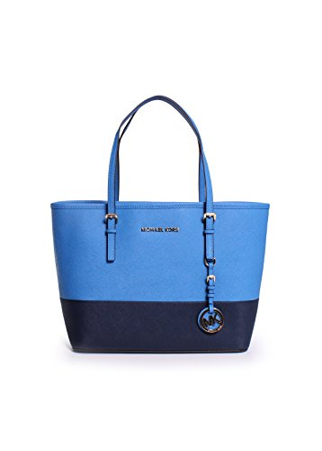 Michael Kors Jet Set Small Travel Tote in Heritage Blue/Navy