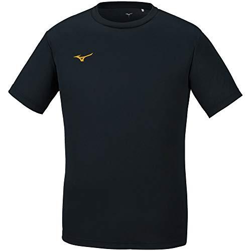 [ミズノ] 【Amazon限定モデルあり】トレーニングウェア 半袖 Tシャツ ナビドライ Uネック 吸汗速乾 インナー 肌着 メンズ 20年新モデル ブラック×ゴールド L