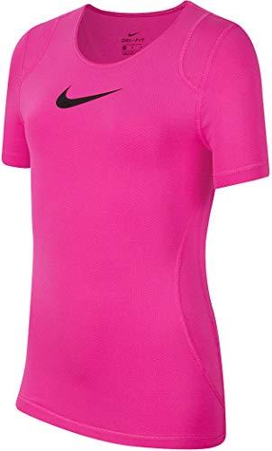Nike Mädchen T-Shirt G NP TOP SS, fire pink/(Black), S, AQ9035