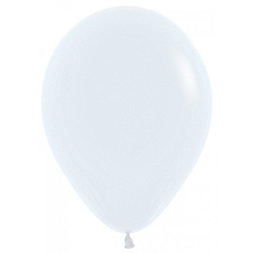 Sempertex Globos de 22,5 cm Aprox Color Blanco Solido (50 ud)