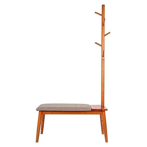 POETRY 2-in-1 kapstok gemaakt van massief hout voor het ophangen van huishoudelijke schoenen met een afmeting van 90,5 x 36 x 180 cm (kleur: B)