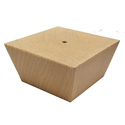 Möbelfuß trapez Holz Höhe 5 cm