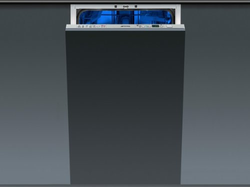 Smeg vollständig integriertes sta452610places A + + Spülmaschine–Geschirrspülmaschinen (komplett integriert, Edelstahl, Knöpfe, LED, Kondensation, Edelstahl)