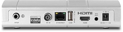 TechniSat Digipal T2 HD DVB-T2 Receiver (mit kartenlosem Irdeto-Zugangssystem für freenet TV, 12 Volt) silber