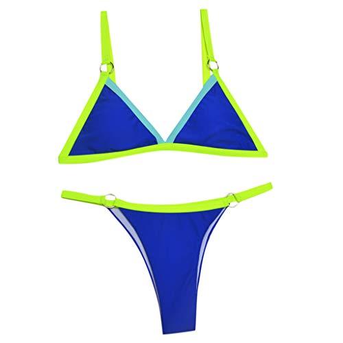 TWIFER Damen Patchwork Bikini Set Push-Up Brasilianische Badebekleidung Beachwear Badeanzug