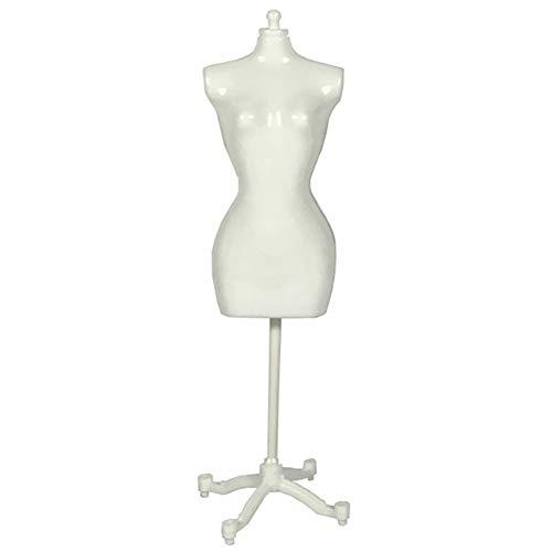 CNNSport Frau Mini Dummy Mannequin, Dummy Kinder Modeschöpfern, für Kleid und Puppen, Weiß, 22cm