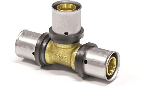 Pipetec Pressfitting T Stück 20x2 mm 20x20x20 TH Kontur Verbundrohr, DVGW, TH-Profil