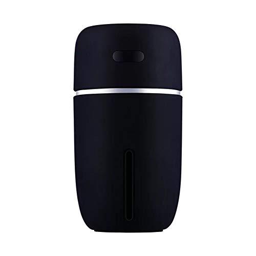 ZHANGZ0 USB Multi-Funktions-Luftbefeuchter Start Auto Desktop-Befeuchter 200 Ml Bunte Diffusor Klimaanlage Zimmer Moisturizing Feuchtigkeitsspend Luftbefeuchtung,Schwarz