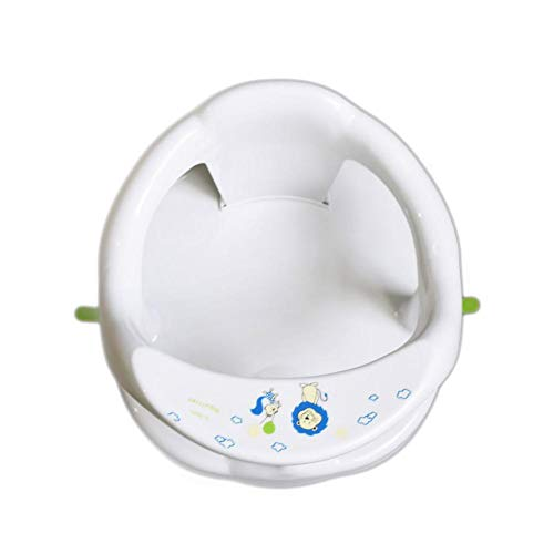Babywannensitz - Badesitz Baby Ab 6 Monate, Für Badewanne, Aquababy-Badering Mit Rückenlehnenstütze & 4PCS Saugnäpfe, Badesitz, Tragen Bis Zu 25kg - Blau/Weiß