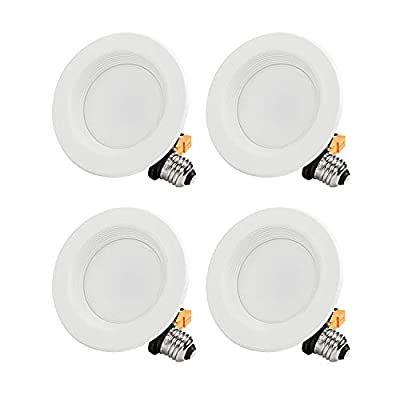 15W 5/6 Inch Dimmable Recessed LED Downlight, 2700K/5000K, 1/4/12 Pack
