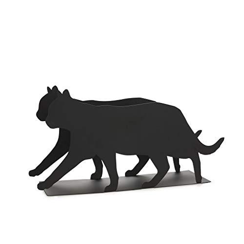 balvi Zeitschriftenständer Feline Farbe Schwarz Praktisch und dekorativ in Katzenform Eisen 21,5 cm