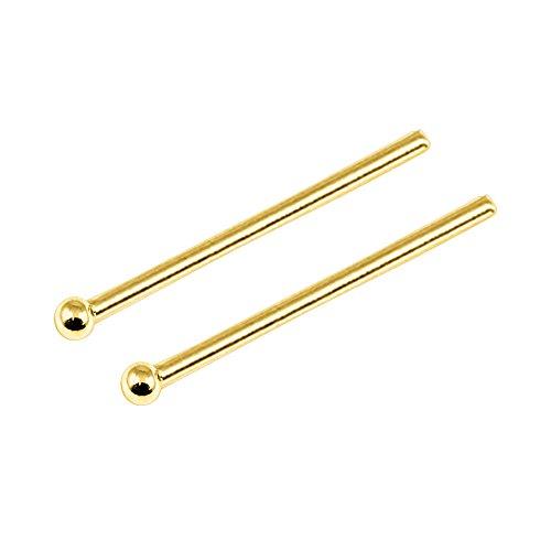 TDi Nasenpiercing Nasenhaken Sterling-Silber 925 vergoldet Kugel 1,2mm 1Stück TDi-GPST5