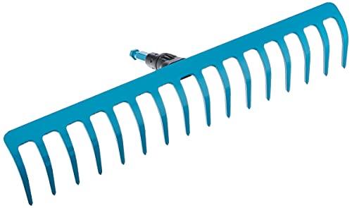 Gardena combisystem-Rechen: Breite Harke mit 16 Zinken, ideales Gartenzubehör zum Rechen, Unkrautentfernen und zur Bodenbearbeitung, Arbeitsbreite 41 cm, passend zu allen cs-Stielen (3179-20)