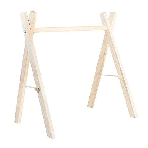 RUBY - Palestra per bambini in legno, Supporto pieghevole per attività per bambini, Regalo per neonati (Naturale)