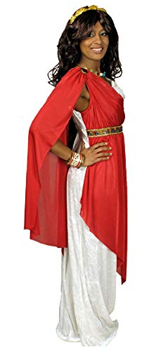 narrenkiste K31250588-40-42-A - Disfraz de romano para mujer (talla 40-42), color blanco y rojo