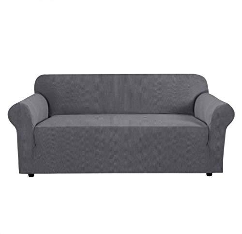 OMILEK Sofa Schonbezug Stretch Stoff , Elastische Sessel Couch Sofa Sofabezüge Waschbar [ 2 Sitzer ]