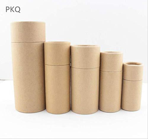 FHFF Kraft papieren tas 6 kleuren kleine kraft papier kartonnen doos voor cosmetische etherische olie pakket doos ronde parfum fles binnen 6.7X2.7Cm 10Ml bruin
