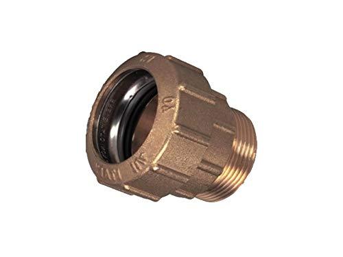 PE Rohr VERBINDER Fittings 20 mm Verschraubung aus Messing DVGW Trinkwasser -Top Qualität- (Messing, MS Verschraubung 1/2