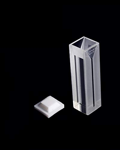 Azzota 10mm Pathlength Fluorometer Cuvette - 0.35ml Optical Glass, Four (4) sides clear, With cover and round bottom