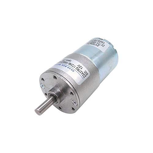 WJN-Motor, 1pc DC Gear Motor 12V 24V ZGA37RG ZYTD520 Reversible rotación Motors Slow Speed 10W 2/5 / 10/15/20/30/50/1000 RPM (Color : 100rpm, tamaño : 12V)