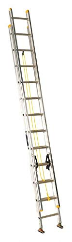 Louisville 24 ft Aluminum Extension Ladder, 250 lb Load Capacity, 39.0 lb Net Weight - AE3224