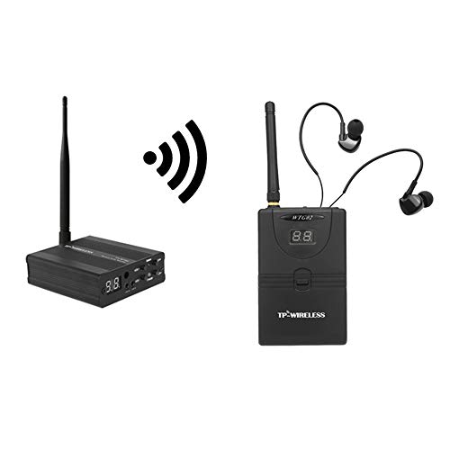 Docooler TP-Wireless In Ear Monitor System,Professionelles digitales 2,4G Monitorsystem für Bühnen (1 Sender 1 Empfänger)