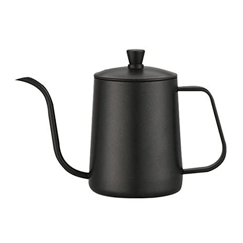 YONGLI 60% De Ventas !!!600 Ml Vierte sobre Kettle Cafetera De Acero Inoxidable Cuello De Cisne De Goteos De Goteos De Té Jarra De Té (Color : Black)
