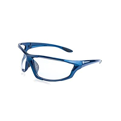 Smith & Wesson Major Full Frame Shooting Glasses with No-Slip Rubber, Impact Resistance and Storage Bag for Shooting, Working and Everyday Use, Clear