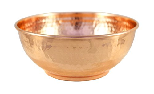 Copper Hammered Mixing Bowl, 100% Pure Heavy Gauge