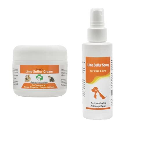 Bundle - 2 Items: Classic's Lime Sulfur Cream (2 oz) and Classic's Lime Sulfur Spray (4 oz)
