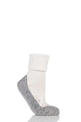 FALKE Damen 1 Paar Cosyshoe Slipper Haus Socken Weiß 4-5 Damen