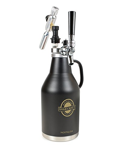 HomeCraft CBG64 Beer growler, 2-liter, Black