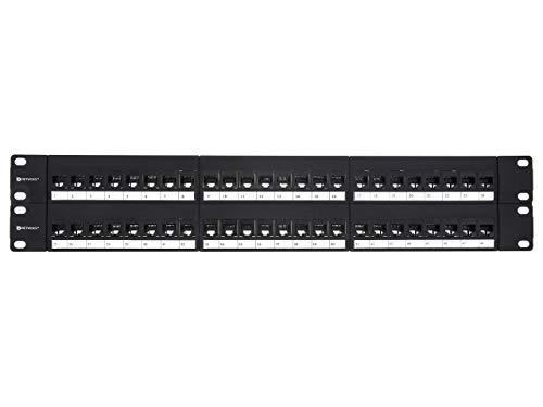Networx CAT6 High-Density Feed Through Patch Panel - 48 Port, 2U