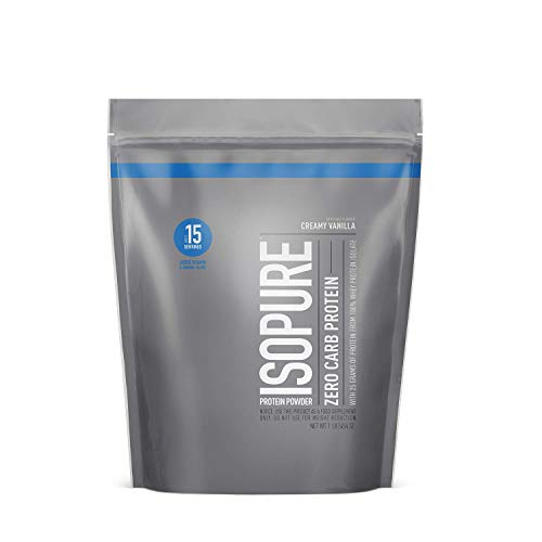 Isopure Zero Carb Vitamin C and Zinc for Immune Support 25g Protein Keto Friendly Protein Powder 100% Whey Protein Isolate Flavor: Creamy Vanilla 1 Pound Packaging May Vary