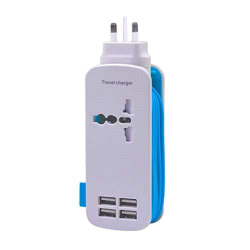 Vokmon Cargador USB estación de Carga de Potencia Enchufe regleta de enchufes 110v-220v Worldwide Entrada 5V 1A / 2A 1,5 m Cable de alimentación