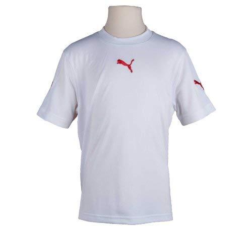 Puma V5.06 Ss Shirt Jr - bianco - rosso, 152