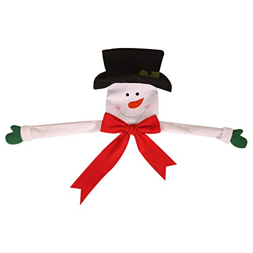 1PC Large Christmas Tree Topper Soft Felt Hugger Xmas Party Decoration Ornament Christmas Tree Decorations Supplies(Snowman)