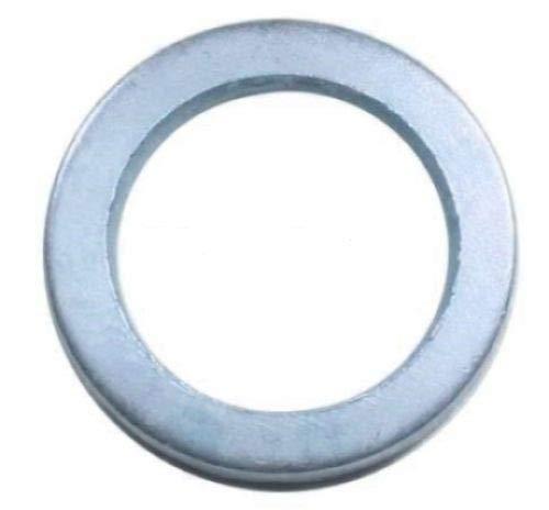30 Fitschenringe in verschiedenen Größen (Ø 10,2 - Ø 12,2 mm Innendurchmesser) - blau verzinkt - Mix - 10x je Größe | zum anheben von Türen | Unterlegscheibe für Türen | Silber | Distanzring