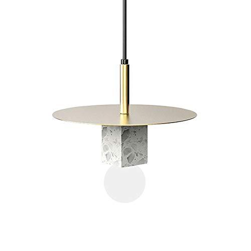 MAONB Post-moderner Marmor Bedside Kronleuchter, Minimalistisches Restaurant Study Kreativer Persönlichkeit Designer Schlafzimmer Nachttischlampe (Color : Warm Light)