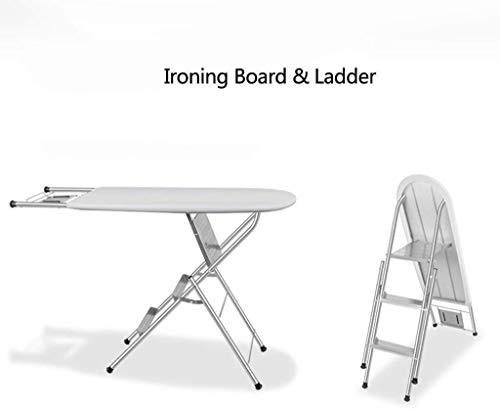 Strijkplank Strijkplanken huis Folding Ladder Strijkservice Hanger Multifunctionele Folding Iron Board Laden Gewicht 150kg Steam strijkplank (Size : 96x34x85cm)